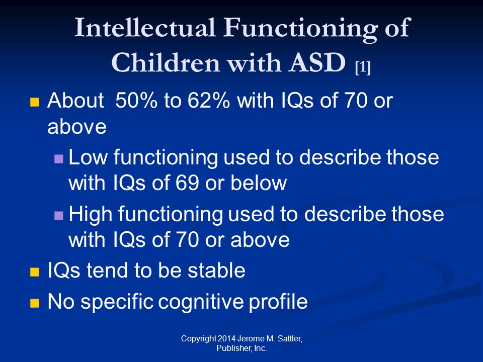 Intellectual Functioning of Children with ASD [1]